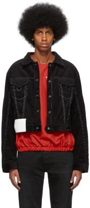 Pyer Moss Black Corduroy Trucker Jacket