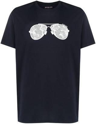 Michael Kors sunglasses print T-shirt
