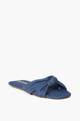 Loeffler Randall Denim Polly Puffy Knot Sandal