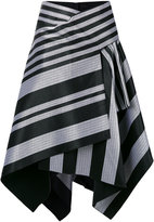 Proenza Schouler striped asymmetric skirt - women - Silk/Cotton/Viscose - 4