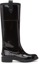 Jimmy Choo Black Edith Rain Boots