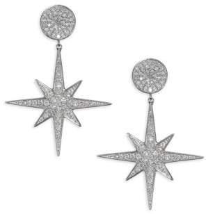 Sydney Evan 14K White Gold& Diamond Starburst Drop Earrings
