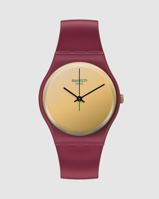 Swatch Women's Red Analogue - GOLDENSHIJIAN - Size One Size at The Iconic
