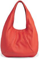 Bottega Veneta Hobo Large Textured-leather Shoulder Bag - Tomato red