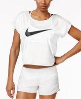 Nike City Cool Swoosh Logo Cropped Running Top