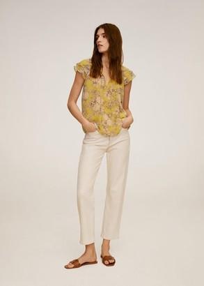 MANGO Floral print blouse yellow - 2 - Women