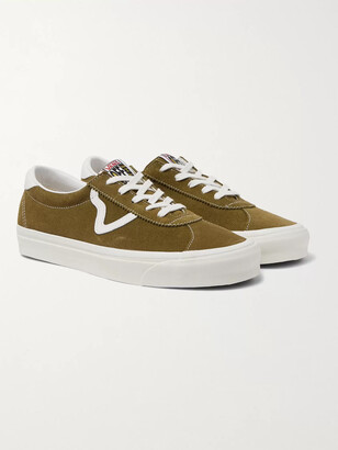 Vans Style 73 Dx Anaheim Factory Leather-Trimmed Suede Sneakers