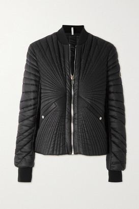 Moncler + Rick Owens Angle Quilted Shell Bomber Jacket - Black