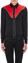 Saint Laurent Men's Satin Western Shirt-BLACK, RED, NO COLOR