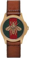 Gucci Brown Medium G-Timeless Bee Watch