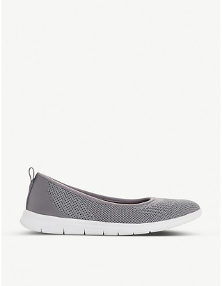 Dune E Eliza slip-on metallic-knit trainers