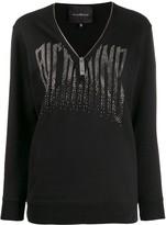 John Richmond V-neck zipped sweatshirt
