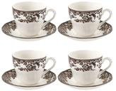 Spode Delamere Rural Teacups & Saucers (Set of 4)