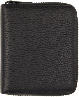 Maison Margiela Black Small Zip-Around Wallet
