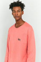 Stussy Basic Long-sleeve Pink T-shirt
