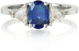 Forzieri Sapphire and Diamond White Gold Ring