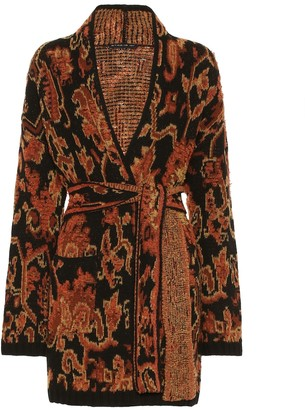 Etro Wool-blend intarsia cardigan