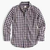 J.Crew Kids' midweight flannel shirt in navy check