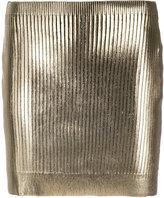 Saint Laurent metallic coated mini skirt - women - Spandex/Elastane/Viscose - M