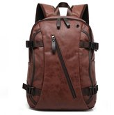 NUTEXROL Vintage PU Leather Backpack Rucksack School Laptop Daypack Travel Bags