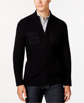 Alfani Damon Texture Full-Zip Mock-Neck Sweater, Only at Macy's