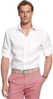 Tasso Elba Island Linen Roll Tab Shirt, Only at Macy's