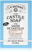 JR Watkins Pure Castile Bar Soap, Peppermint, 8 Ounce