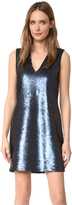 Elizabeth and James Wesley Deep V Sleeveless Sequin Dress