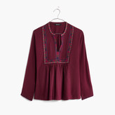 Madewell Embroidered Bohème Popover Shirt