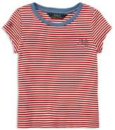 Ralph Lauren Polo Girls' Striped Nautical Tee - Little Kid