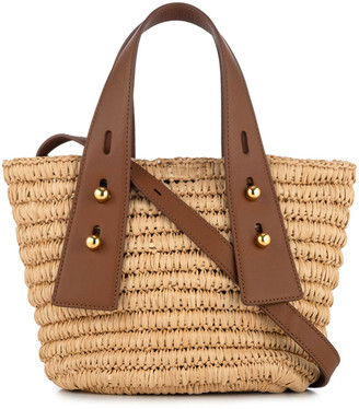 Frame Les Second Mini Raffia Tote Bag