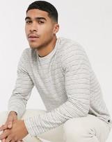 Esprit stripe long sleeve top in white