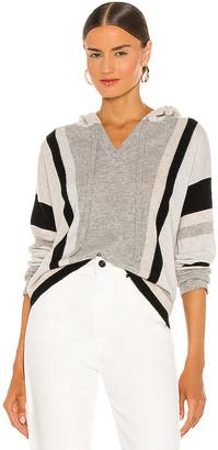 Autumn Cashmere Vertical Stripe Baja Hoodie