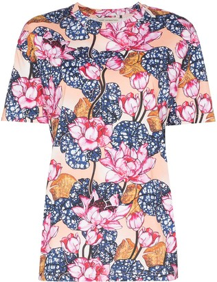 Mary Katrantzou Tiery floral print T-shirt