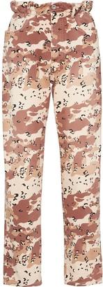 Miu Miu Camouflage Print Drill Jeans