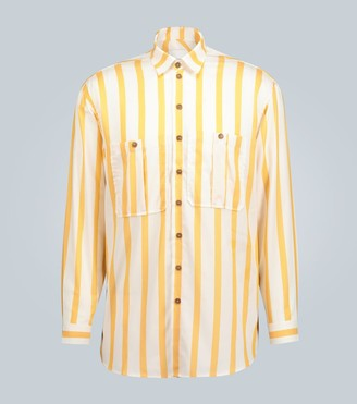 King And Tuckfield Oversized striped shirt