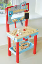 Jammtoys wooden toys Pretend Play Workbench With Tools And 25 Accessories