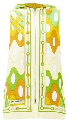 Emilio Pucci Vivara-print Cotton-terry Cover Up - Womens - Yellow Multi
