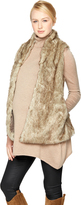 A Pea in the Pod Olive & Oak Faux Fur Maternity Vest