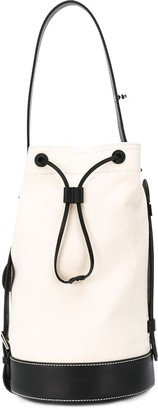 Lanvin contrast trim bucket bag