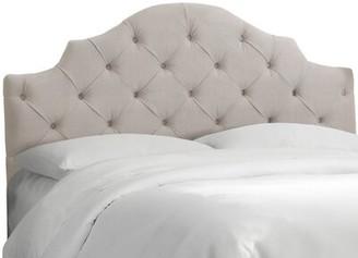 Wayfair Custom UpholsteryTM Tufted Notched Upholstered Panel Headboard Wayfair Custom Upholstery Size: California King, Upholstery: Velvet Light Gray