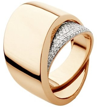 Vhernier Tourbillon 18K Rose Gold & Diamond Pave Ring