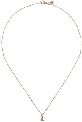 Dodo 9kt Rose Gold Mini Moon Charm Necklace