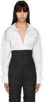 Jacquemus White and Black Striped la Chemise Paula Shirt