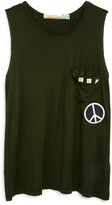 Vintage Havana Girls' Peace Pocket Tank