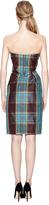 Vivienne Westwood Silk-Taffeta Plaid Bustier Dress