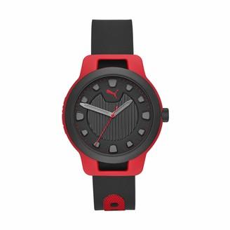Puma Men Reset V1 Stainless Steel Watch Color: Black/Black Mesh (Model: P5007)
