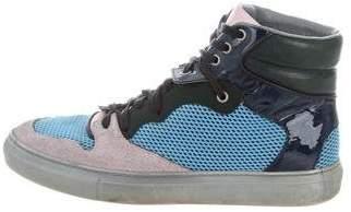Balenciaga Colorblock Leather Sneakers