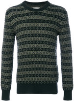 Maison Margiela patterned knit crew neck sweater - men - Wool - M