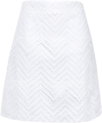 Maje Guipure Lace Mini Skirt